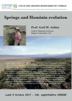 Springs and Hominin evolution